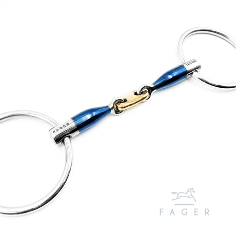 Fagers French Link 45° Loose rings Bit ALEXANDER