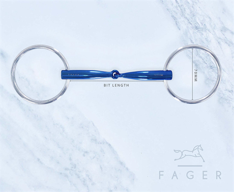 Fagers Titanium Single jointed Bar Relief Loose Rings bit - LILLY