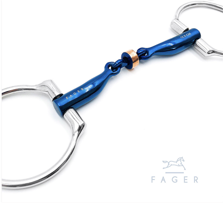 Fagers Titanium Anatomic Copper Roller Eggbutts bit - SALLY